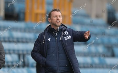 Gary Rowett Manger of Millwall during the Millwall vs Middlesbrough, EFL Championship Football match at the New Den London held behind closed doors.