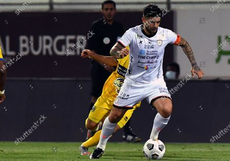 Al-Shabab's player Ever Banega in action during the Saudi Professional League soccer match between Al-Shabab and Al-Taawoun at Prince Khaled bin Sultan Stadium, in Riyadh, Saudi Arabia, 20 March 2021.