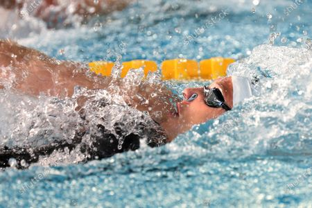 Mathilde Cini of Valence Triathlon, Final B 50 m backstroke Women