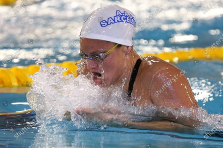 Fanny Deberghes of AAS Sarcelles Natation 95 Final A 200 m breaststroke Women
