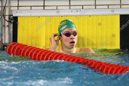 Stock Picture of Leon Marchand of Dauphins Toulouse OEC Final A 400 m medley Men