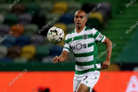 Joao Mario of Sporting CP in action during the Portuguese League football match between Sporting CP and Vitoria SC at Jose Alvalade stadium in Lisbon, Portugal on March 20, 2021.