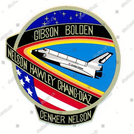 Editorial photo of Official Mission Patch for Space Shuttle Columbia STS-61C Mission, Houston, Texas, USA - 19 Mar 2021