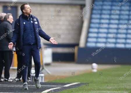 Gary Rowett manager of Millwall during The Sky Bet Championship between Millwall and Middlesbrough at The Den Stadium, London on 20th March 2021