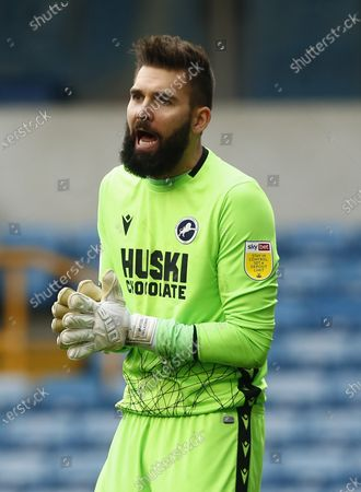 Bartosz Bialkowski of Millwall during The Sky Bet Championship between Millwall and Middlesbrough at The Den Stadium, London on 20th March 2021