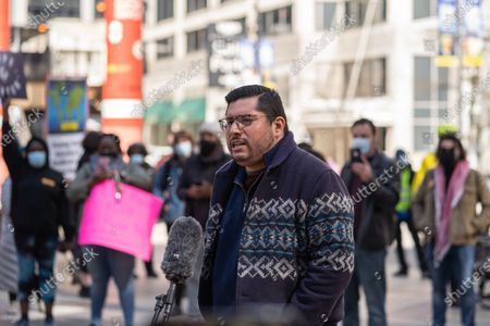 Editorial photo of Rent Control Protest In Chicago, United States - 20 Mar 2021