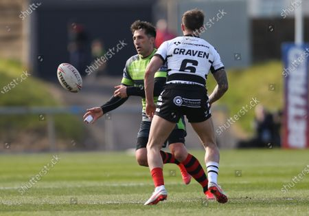 Gavin Henson of West Wales Raiders looks to set up an attack