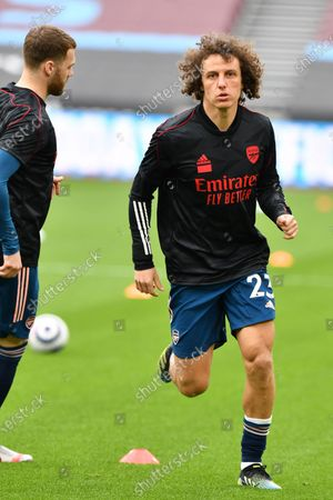 David Luiz of Arsenal FC during West Ham United vs Arsenal, Premier League Football at The London Stadium on 21st March 2021