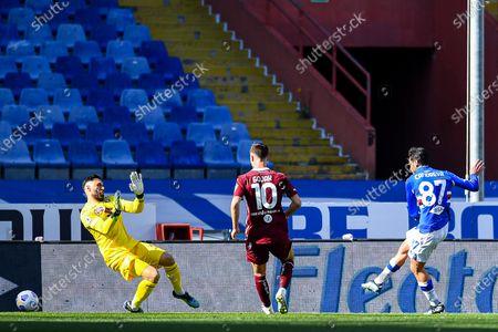 Editorial image of UC Sampdoria vs Torino FC, Genoa, Italy - 21 Mar 2021