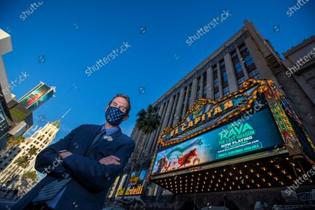 Editorial photo of El Capitan Theatre welcomes guests back after pandemic restrictions are reduced, The El Capitan Theatre, Hollywood, California, United States - 19 Mar 2021