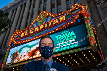 Editorial image of El Capitan Theatre welcomes guests back after pandemic restrictions are reduced, The El Capitan Theatre, Hollywood, California, United States - 19 Mar 2021