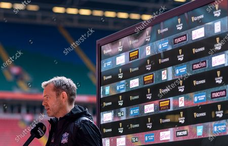 Dragons vs Glasgow Warriors. Glasgow Warriors Head Coach Danny Wilson with the media ahead of the game