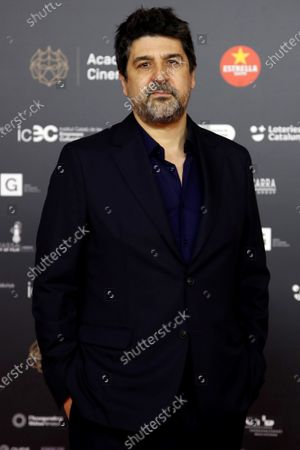 Cesc Gay poses for the media on the red carpet of the 13th Gaudi Awards gala held in Barcelona, Catalonia, Spain, 21 March 2021.