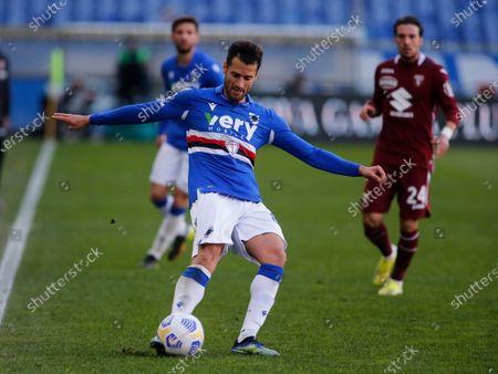 Antonio Candreva during Serie A match between Sampdoria v Torino in Genova, on March 21, 2021