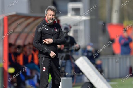 Maurizio Ganz (Head Coach AC Milan) during the women Serie A match between AC Milan and Empoli at Vismara Sports Center