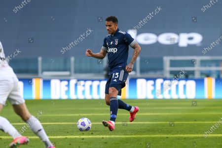 Danilo Luiz da Silva of Juventus FC during the Serie A football match between Juventus FC and Benevento Calcio at Allianz Stadium on March 21, 2021 in Turin, Italy.