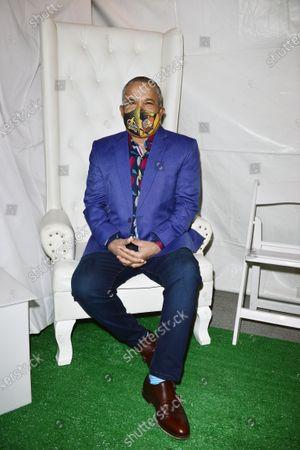 """Hector """"El Torito"""" Acosta backstage"""