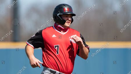 Brandon Johnson (7) of Northern Illinois during an NCAA baseball game against Kent State on in Kent, Ohio