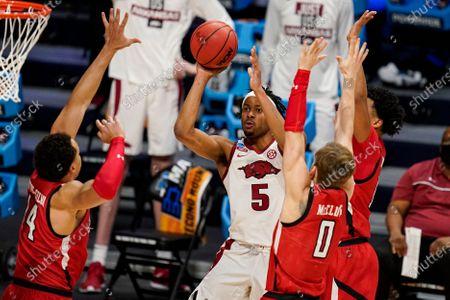 Editorial photo of NCAA Texas Tech Arkansas Basketball, Indianapolis, United States - 21 Mar 2021