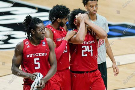 Editorial photo of NCAA Rutgers Houston Basketball, Indianapolis, United States - 21 Mar 2021