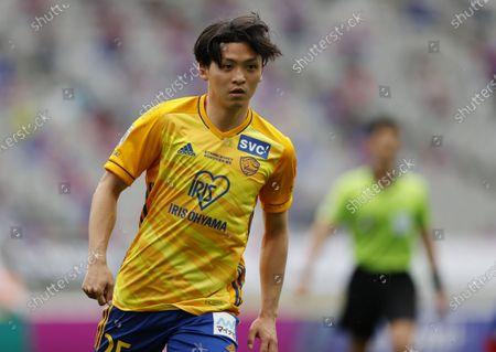 Takumi Mase (Vegalta) - Football / Soccer : 2021 J1 League match between FC Tokyo 2-1 Vegalta Sendai at Ajinomoto Stadium, Tokyo, Japan.