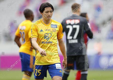 Stock Image of Takumi Mase (Vegalta) - Football / Soccer : 2021 J1 League match between FC Tokyo 2-1 Vegalta Sendai at Ajinomoto Stadium, Tokyo, Japan.