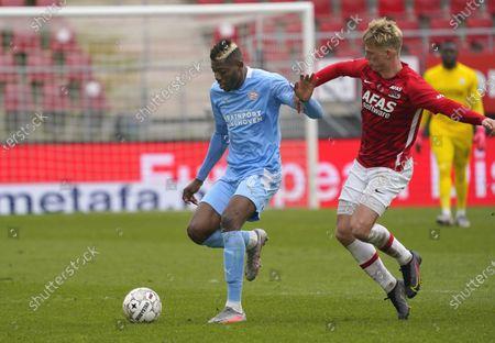 Editorial picture of AZ vs PSV, Dutch Erediviise, Alkmaar, Netherlands - 21 Mar 2021