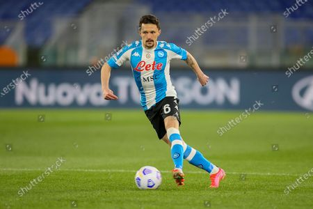 Mario Rui of SSC Napoli in action during the Italian Serie A football match between AS Roma and SSC Napoli at Olimpico Stadium in Rome, Italy on March 21, 2021. SSC Napoli won the match 2-0.
