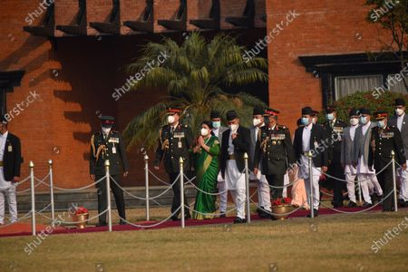President Bidya Devi Bhandari arrive to leave for two-day official state visit to Bangladesh on Monday, March 22, 2021 on invitation of her Bangladeshi counterpart Mohammad Abdul Hamid to attend the celebration of the birth centenary of Bangabandhu Sheikh Mujibur Rahman, the Father of the Nation of Bangladesh.