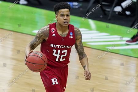 Rutgers' Jacob Young plays against Houston during the second half of a college basketball game in the second round of the NCAA tournament at Lucas Oil Stadium in Indianapolis . Houston won 63-60