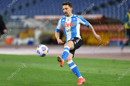Mario Rui of Napoli in action during the serie A soccer match As Roma vs SSC Napoli in the Olympic stadium