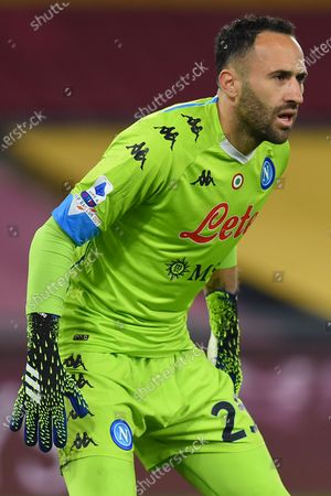 David Ospina of Napoli in action during the serie A soccer match As Roma vs SSC Napoli in the Olympic stadium