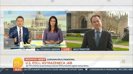 Editorial image of 'Good Morning Britain' TV Show, London, UK - 22 Mar 2021