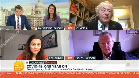 Ben Shephard, Susanna Reid, Prof John Ashton, Prof Devi Sridhar and Prof Angus Dalgleish