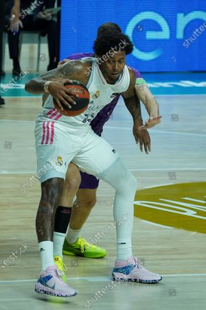 Trey Thompkins of Real Madrid  in action during the ACB Endesa basketball league match between Real Madrid vs Coosur Betis, which was played at the Wizink Center in Madrid. March 21, 2021 Spain