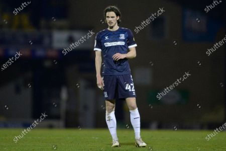 Sam Hart of Southend United in action during the Sky Bet League Two match between Southend United and Walsall at Roots Hall in Southend - 23rd March 2021