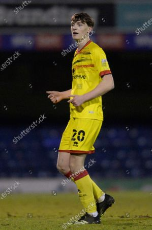 Sam Perry of Walsall in action during the Sky Bet League Two match between Southend United and Walsall at Roots Hall in Southend - 23rd March 2021