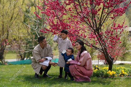 The 1st birthday of Prince Gyalsey Ugyen Wangchuck of Bhutan celebrated in the Lingkana Palace gardens in Bhutan, with King Jigme Khesar Namgyel Wangchuck and Queen Jetsun Pema Wangchuck.