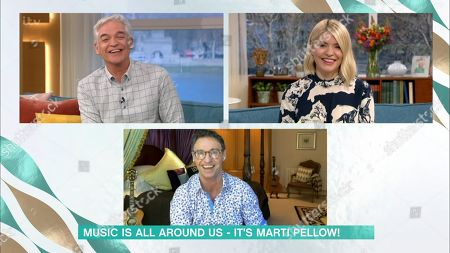 Phillip Schofield, Holly Willoughby and Marti Pellow