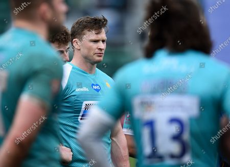 Chris Ashton of Worcester Warriors looks on after the match