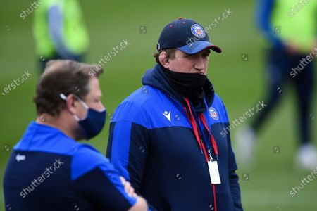 Bath Director of Rugby Stuart Hooper looks on prior to the match