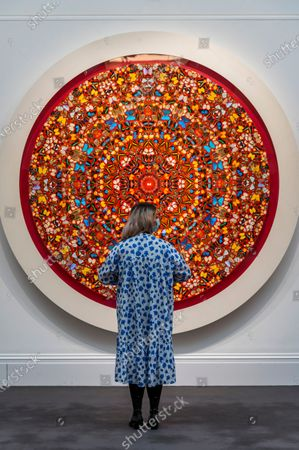 Damien Hirst, The Human Voice, 2006, est £600,000-800,000 - Sotheby's preview of the Modern Renaissance sales, which span over 500 years of art history at the New Bond Street Galleries.