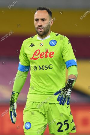 David Ospina of Napoli in action