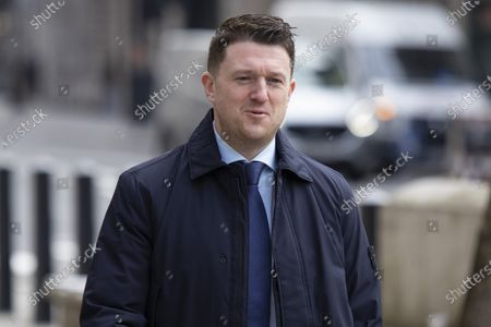 Editorial photo of Tommy Robinson at The Royal Courts of Justice, London, UK - 22 Mar 2021