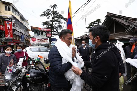 Editorial picture of Signature campaign for the conferment of Bharat Ratan to His Holiness the 14th Dalai Lama, Dharamsala, India - 22 Mar 2021