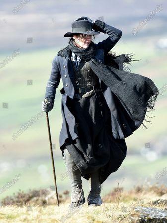 Suranne Jones films the latest scenes for Gentleman Jack on the Yorkshire Moors