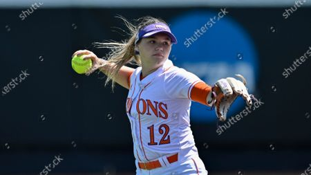 Stock Picture of Northwestern State's Taylor Williams throws the ball during an NCAA softball game against Incarnate Word, in San Antonio, Texas