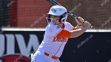 Northwestern State's Taylor Williams bats during an NCAA softball game against Incarnate Word, in San Antonio, Texas