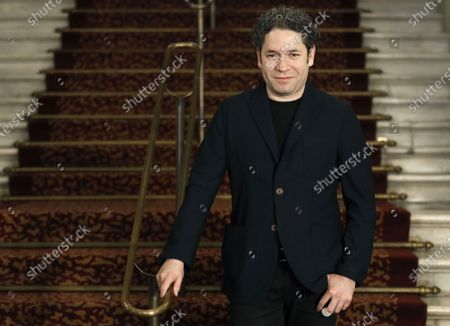 Venezuela orchestra conductor and Los Angeles Philarmonic Orchesta conductor Gustavo Dudamel poses during the presentation of 'Otello' by Giuseppe Verdi at the Liceu Gran Teatre in Barcelona, Spain, 22 March 2021. The opera is planned to run from 27 March to 14 April.