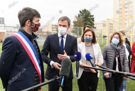 Editorial picture of Veran and Maracineanu meet an adapted physical activity structure, Epinay-sous-Senart, France - 22 Mar 2021